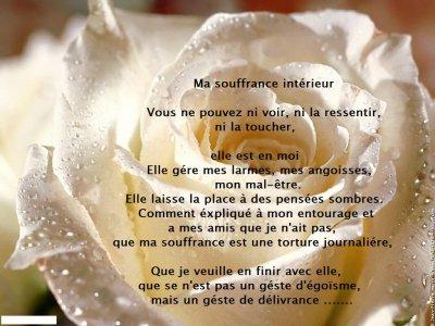 citations et poèmes :les larmes de la souffrance