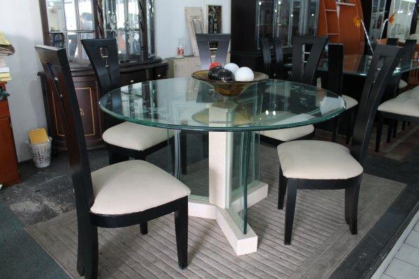 Articles de megaespaciomuebles tagg s mesa comedor for Mesa de vidrio redonda extensible