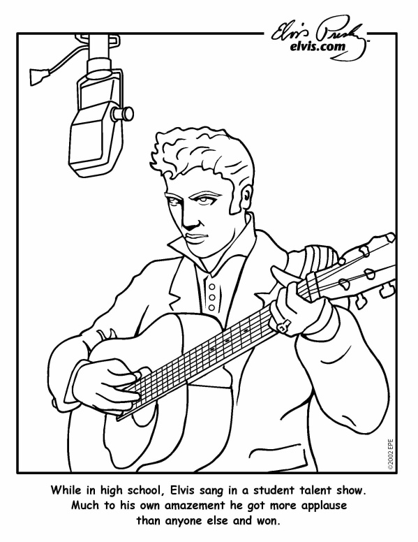 Graceland elvis presley coloring pages coloring pages for Elvis coloring pages